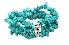 "Sterling Silver ""Believe"" Multi Row Turquoise Chip Stretch Bracelet Amazon Curated Collection. $17.99. Save 28%!"