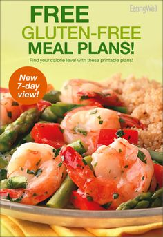 7-Day Gluten-Free Meal Plan for different calorie levels