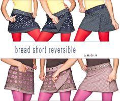 MOSHIKI Rock Bread, short reversible. Ein Beispielmodell aus dem neuen OnlineSet. #Moshiki  #Wrapskirt #Roecke #Trend #trendy #clothing #fashion #Mode #Style #Summer