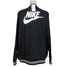 a0272855e73d Nike Fleece Lined Bomber Jacket Plus Size 1X Womens Black Full Zip Striped  New  Nike