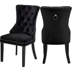 online shopping for Stonefort Tufted Velvet Upholstered Dining Chair (Set Darby Home Co from top store. See new offer for Stonefort Tufted Velvet Upholstered Dining Chair (Set Darby Home Co Dining Room Blue, Luxury Dining Room, Beautiful Dining Rooms, Dining Room Design, Kitchen Dining, Kitchen Island, Tufted Dining Chairs, Solid Wood Dining Chairs, Dining Chair Set