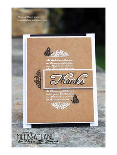 Happy Little Stampers - Thinking of You by Melissa Lane