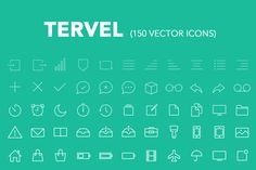 Check out Tervel - 150 Vector Line Icons iOS7 by nikokolev on Creative Market