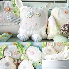 I love these personalized softies.  I want to make a bunch of them.  I need more grandkids!