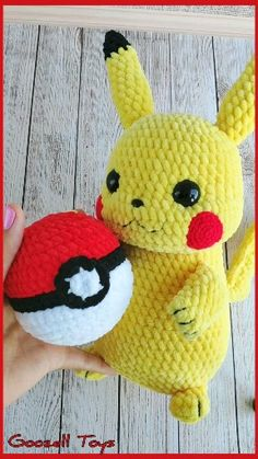 Crochet pattern Pokeball for amigurumi Pokemon Pikachu. Stuffed crochet toys The Effective Pictures We Offer You About crochet baby blanket A. Crochet Pikachu, Pokemon Crochet Pattern, Crochet Patterns Amigurumi, Amigurumi Doll, Crochet Dolls, Baby Blanket Crochet, Crochet Baby, Pikachu Pokeball, Pokemon Toy
