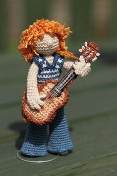 Crochet art doll OOAK Handmade collectable doll by FancyKnittles,