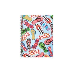 Flip Flops Sandals Spiral Notebooks