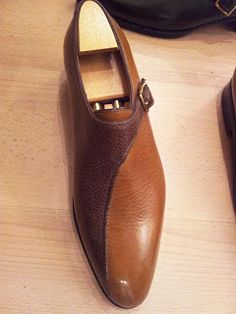 Aubercy Bespoke Two Tone Single Monk Strap, Not sure how I feel about this one but I like it.