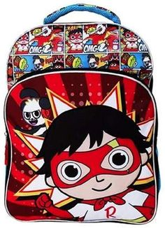 online shopping for Ryan's World 16 Large Kids Backpack School Play Fun from top store. See new offer for Ryan's World 16 Large Kids Backpack School Play Fun Back To School Backpacks, Boys Backpacks, Sailor Moon Cosplay, Outdoor Backpacks, Kids Room Organization, Backpack Travel Bag, School Play, Canvas Leather, Laptop Bag