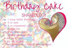 Birthday Cake Shakeology - one of my new favorite vanilla shakeo recipes