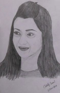 Trisha Krishnan - Pencil Drawing