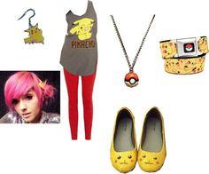 """Leda Pokemon Outfit"" by rockerchic0 ❤ liked on Polyvore"