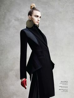 Sigrid Agren Wears Futuristic Outerwear for S Magazine - unfortunately I can't read the chinese writing to see the designer - this is stunning tailoring!