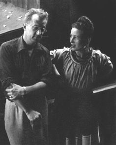Simone de Beauvoir and Nelson Algren, Chicago, 1950. Photo by Art Shay.