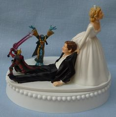 This one might be more fitting...  Wedding Cake Topper - World of Warcraft Game WoW Themed Fun