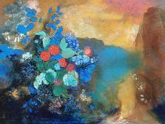 Odilon Redon「Ophelia Among Flowers」(1905-08)