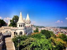 Fisherman's Bastion, Budapest, Hungary ******************** to read more about my travels visit jump-on-board.com Budapest Hungary, Around The Worlds, Mansions, House Styles, Board, Pictures, Travel, Photos, Viajes
