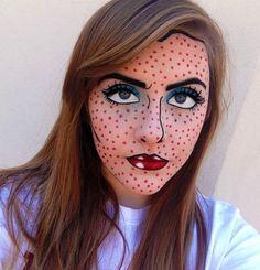Comic Book Makeup. #HalloweenMakeup #Halloween #makeup #party #HalloweenIdeas #beauty #HalloweenCostume #ideas #costumes #inspiration #crafts #DIY #howto #tutorial