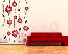 Sticker floral stil tapet