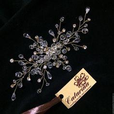 Купить Свадебное украшение для волос - белый, украшение, украшение для волос, украгение для прически