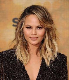 25 beautiful medium length haircuts for round faces medium length culver city ca june 04 chrissy teigen attends spike tvs guys choice 2016 winobraniefo Image collections