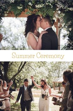 A romantic wedding outdoor ceremony in the orchard pavilion pictured by Sarah Salotti photography. Beautiful neutral flowers complimented the rustic setting. Naming Ceremony, Civil Ceremony, Outdoor Ceremony, Civil Wedding, Farm Wedding, Summer Wedding, Wedding Receptions, Wedding Ceremony, Pavilion
