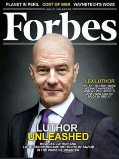 Bryan Cranston as Lex Luthor | 24 Superhero Fan Casting Dreams That Will Probably Never Come True