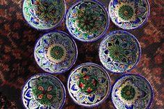 pottery of Uzbekistan And Ikat of Indonesia