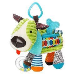 Skip Hop Bandana Buddies Dog Stroller Toy from Lime Tree Kids - Baby toys from Skip Hop are perfect for the busy Mum or Dad, on the go. Animal Activities, Infant Activities, Dog Toys, Baby Toys, Toddler Toys, Plush Animals, Baby Animals, Puppy Bandana, Toy Puppies