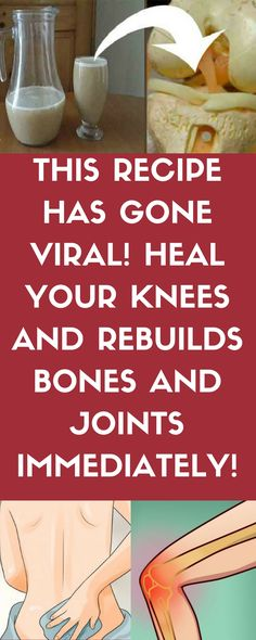 This Recipe is Going Viral, it Will Heal Your Knees and Rebuild Bones and Joints. ...///