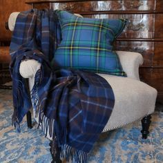 Augustus Tartan Lambswool & Angora Throw