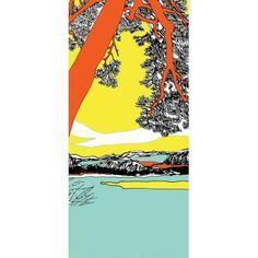Papier peint Ho Hoi Marimekko 215€ panneau de papier peint de 140x330 cm. Il est livré en rouleau contenant 2 lés de 70 cm de large et de 330 cm de long.