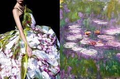 Match #98 Dolce & Gabbana RTW Spring 2008 Water Lilies(series, detail),painting by Claude Monet More matcheshere