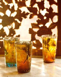 Minted Bourbon Sun Tea