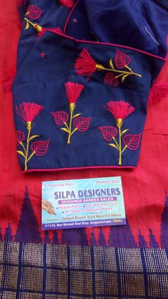 Embroidery Suits Design, Embroidery Designs, Embroidery Blouses, Hand Embroidery, Machine Embroidery, Best Blouse Designs, Saree Blouse Designs, Lace Beadwork, Blouse Desings