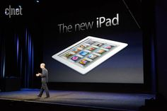 "The new iPad at Apple launch event March 7 2012 - ""the poster child of a post-PC world"""