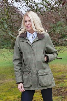 dd133745 A Hume Country Clothing · Ladies Autumn Collection · Schoffel Ptarmigan  Tweed Coat