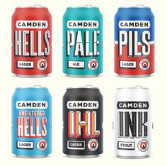 Brand New: New Logo and Packaging for Camden Town Brewery by Studio Juice