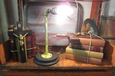 Industrial Lamp W/Wacky Bedspring Bulb Guard Desk Lamp, Table Lamp, Vintage Table, Industrial, Bulb, Crafty, Lighting, Home Decor, Table Lamps