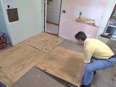 Old flooring can hurt the value of your home but can easily be replaced. #Install new #woodflooring with these step-by-step directions.
