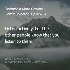Just shut up sometimes. #communication #business #knowledge #improvement