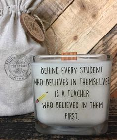 Soy Candle / Teacher Candle / Teacher Gift / Back To School /