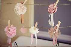 most beautiful baby shower. lots of sweet ideas. headbands diy. Shabby Chic Little Birdie Themed Baby Shower