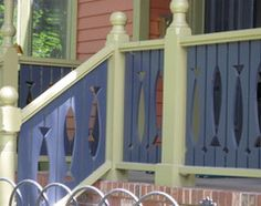 Showcase designs from Victorian patterns to hints at your hobby with this decorative wood railing detail