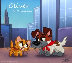 50 ChibisDisney: Oliver and Co by *princekido