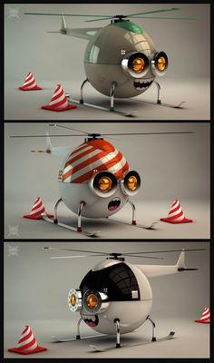 Sky Trippers | 3D art by Matías Petroli | Tools used: Cinema 4D, Illustrator, Photoshop
