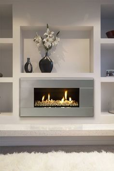 Fireplace Design 2020 – Can you put wood around a gas fireplace? - Home Decor Bedroom Fireplace, Home Fireplace, Living Room With Fireplace, Fireplace Design, Fireplace Mantels, Gas Fireplaces, Fireplace Ideas, Simple Fireplace, Fireplace Shelves