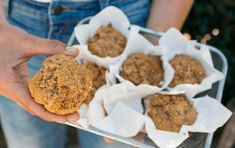 These muffins are delicious and travel well in a lunchbox!