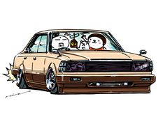 """""""crazy car art"""" jdm japanese old school """"430 CEDRIC"""" original characters """"mame mame rock"""" / © ozizo Official web shop """"STAY CRAZY (in Society6)"""" Official web shop """"ozizo(in Redbubble)"""" """"Crazy Car Art"""" Line stickers """"Crazy car Art"""" Telegram stickers"""