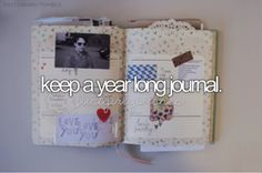 #bucketlist I've tried this so many times, but one day I will keep a journal for one whole (hopefully interesting!) year